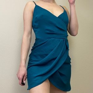 NWT US Size 6 MISSGUIDED | Wrap Teal Dress